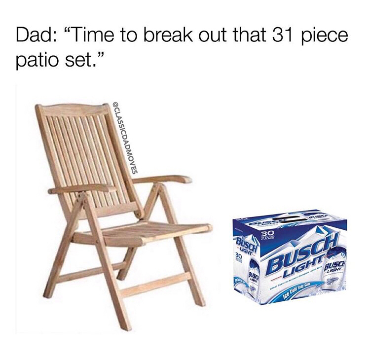 folding chair jokes reclining office chairs uk 28 memes for anyone who loves a good dad joke someecards