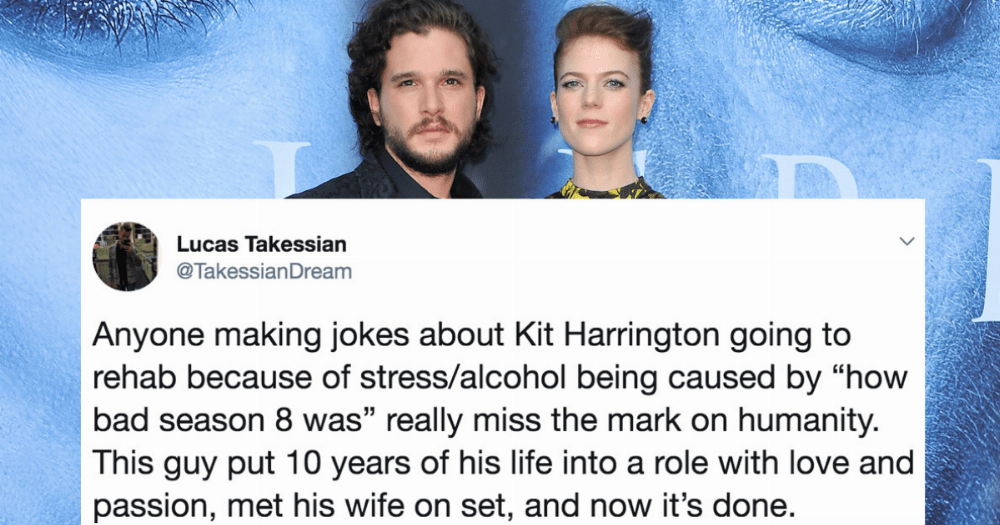 Kit Harington is getting help for stress exhaustion and