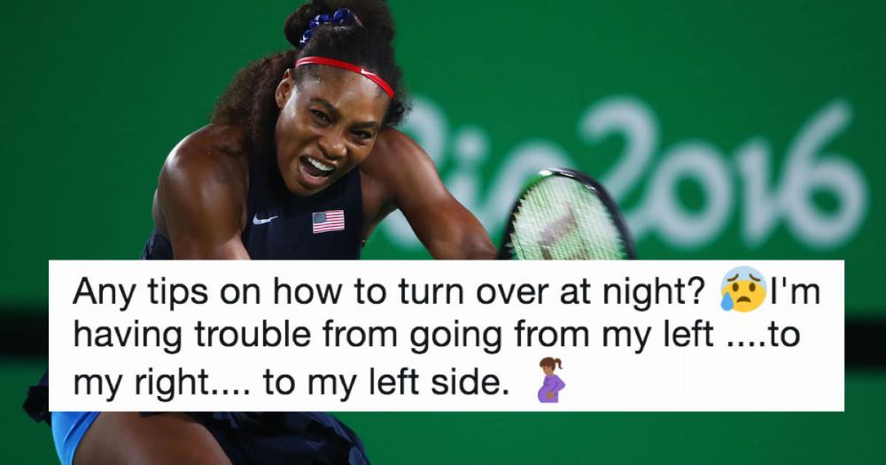 Serena Williams Asked Twitter For Pregnancy Advice And The