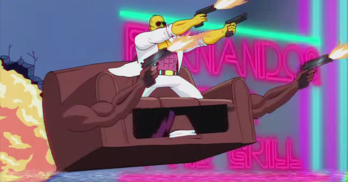 Simpsons Couch Gag Takes Over The Internet For Being A