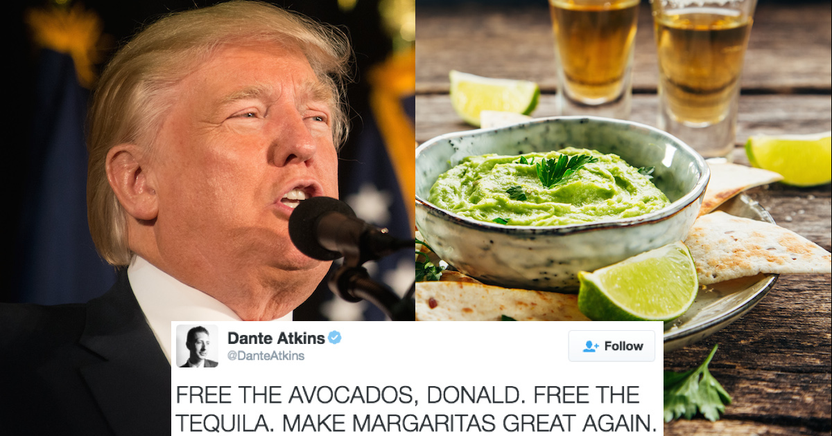 Twitter reacts to the horror of Trumps Mexico wall driving up avocado and tequila prices