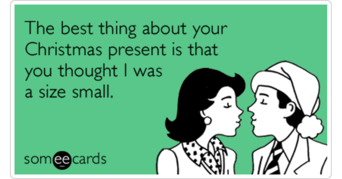 Christmas Present Gift Size Small Love Funny Ecard