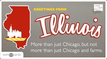 Chicago Illinois Postcard Funny Ecard U S Ecard