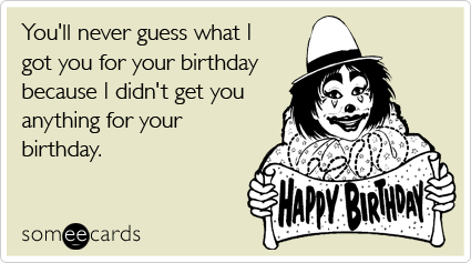 28 birthday cards to