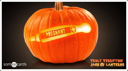 Truly Terrifying Jack O' Lantern: Pregnant.