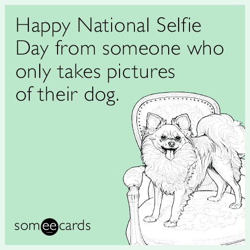 Happy National Selfie Day from someone who only takes pictures of their dog.