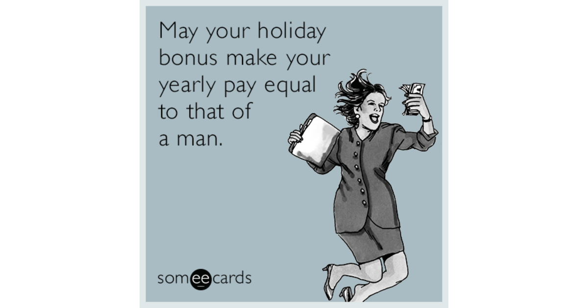 May Your Holiday Bonus Make Your Yearly Pay Equal To That