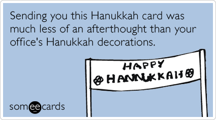 Office Holiday Decorations Christmas Hanukkah Funny Ecard