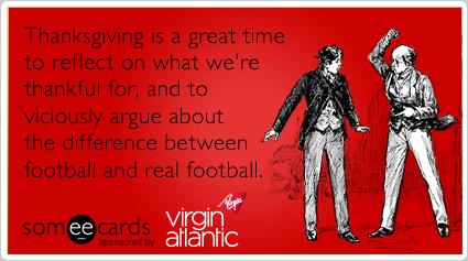 Family Thanksgiving British American Virgin Atlantic Funny