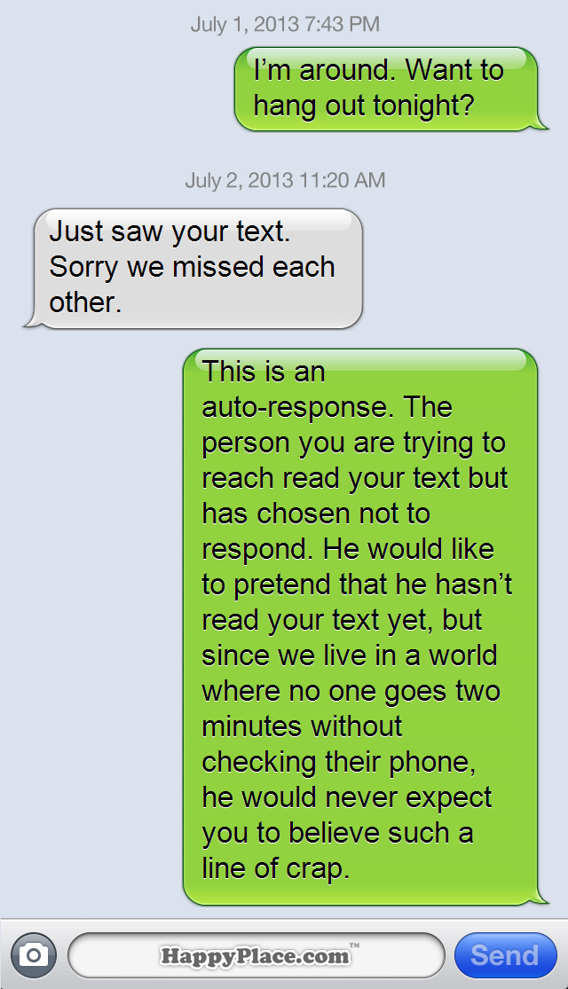 15 Brutally Honest Text Message Auto Replies That Would