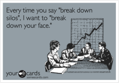 """Every time you say """"break down silos"""", I want to """"break down your face."""" 