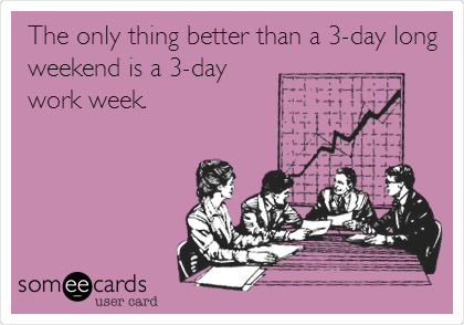 Image result for three day work week