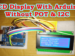 Connect LCD Display with Arduino without I2C Module & POT