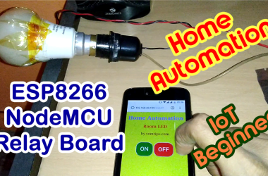 Home Automation Using ESP8266 nodemcu with relay module