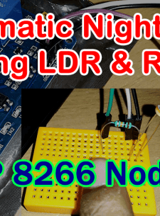Automatic Night Light using LDR with ESP8266 NodeMCU