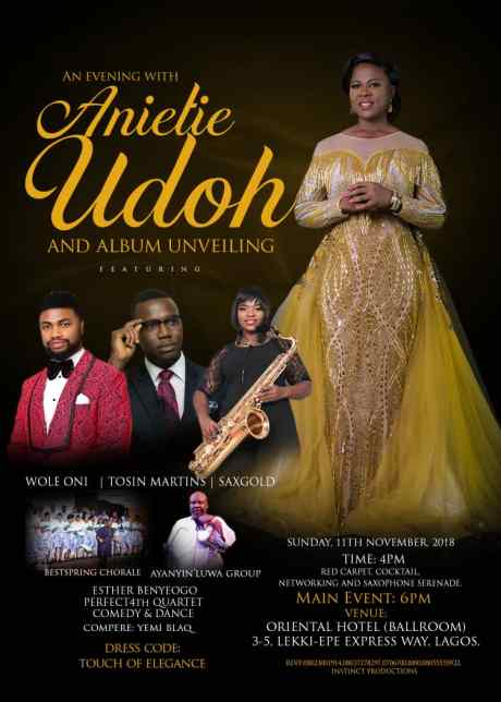 """An Evening With Anietie Udoh"""" Featuring Wole Oni, Tosin Martins & More 