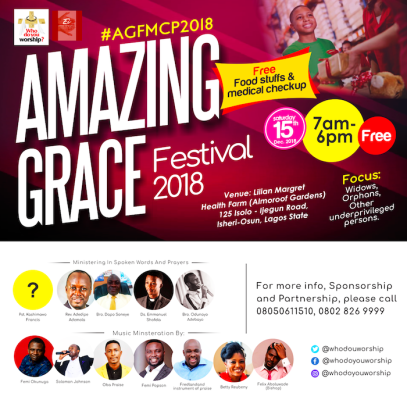 Solomon Johnson presents Amazing Grace Festival 2018, An End of The Year Outreach Event