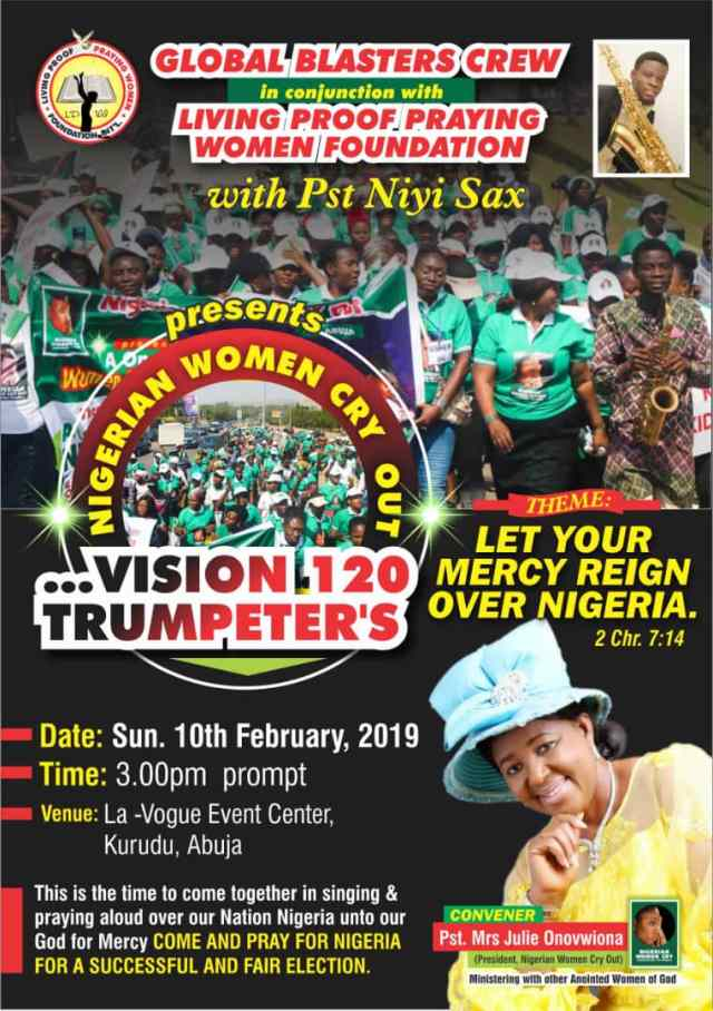 NIGERIAN WOMEN CRY OUT – Vision 120 Trumpeters (Let Your Mercy Reign Over Nigeria)