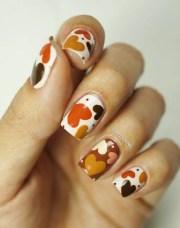 earthy and stylish fall nail