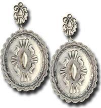 Plain Silver Concho Earrings - Southwest Indian Foundation