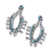 Squash Blossom Earrings Earrings - Jewelry
