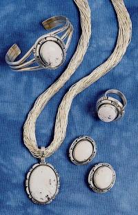 White Buffalo Earring, Bracelet, Ring & Penda - Jewelry ...