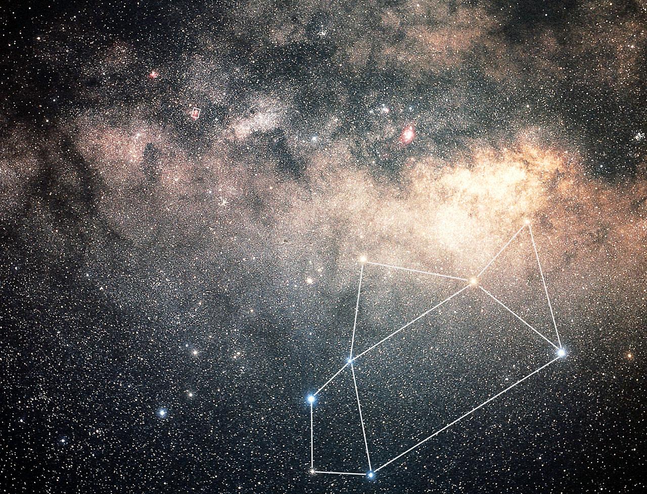 Sagittarius constellation groundbased image  ESAHubble