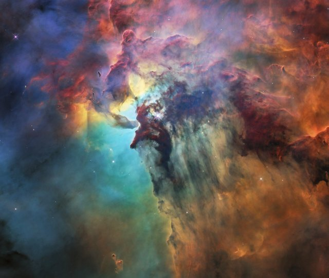 Hubbles 28th Birthday Picture The Lagoon Nebula
