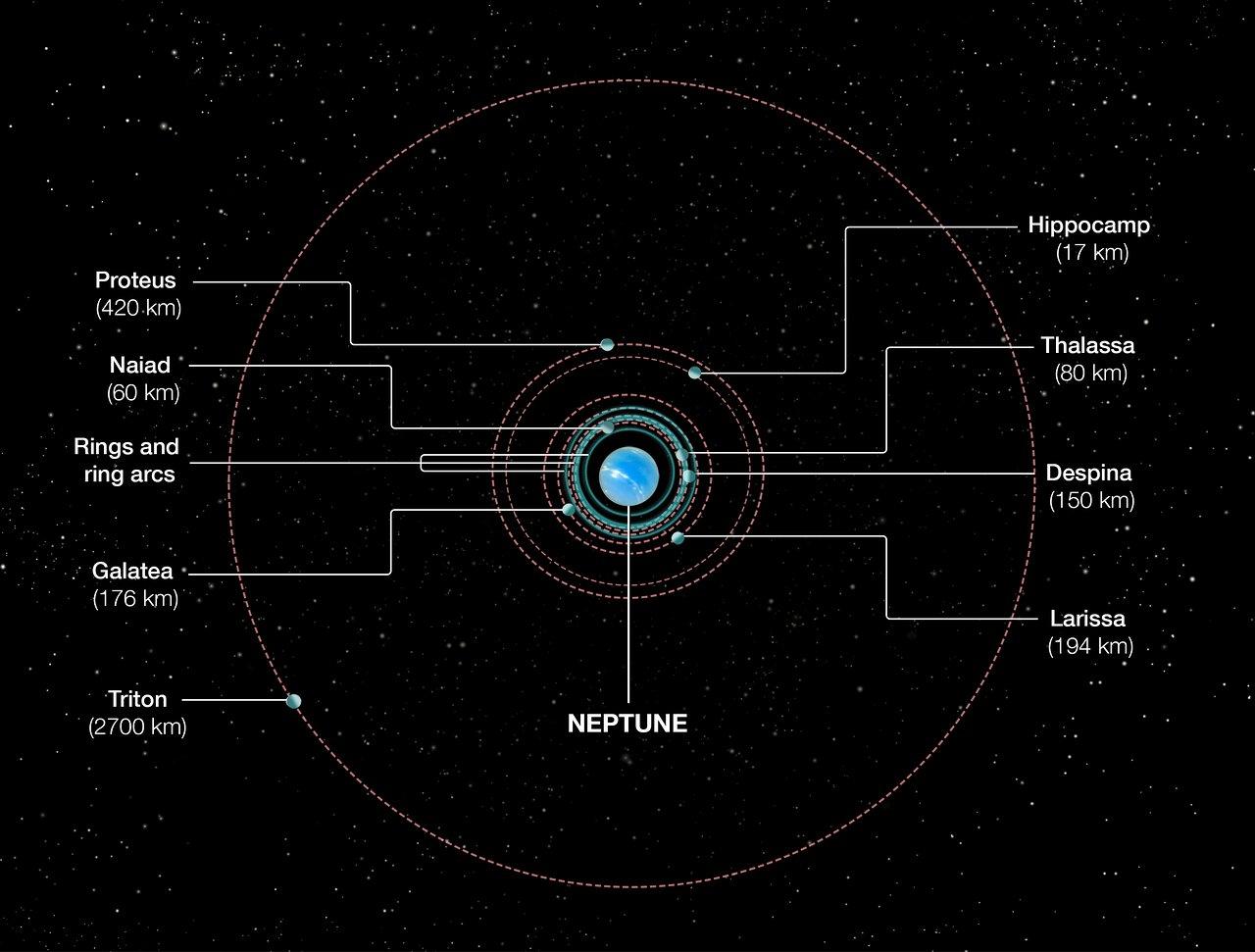 hight resolution of orbits of neptune s inner moons
