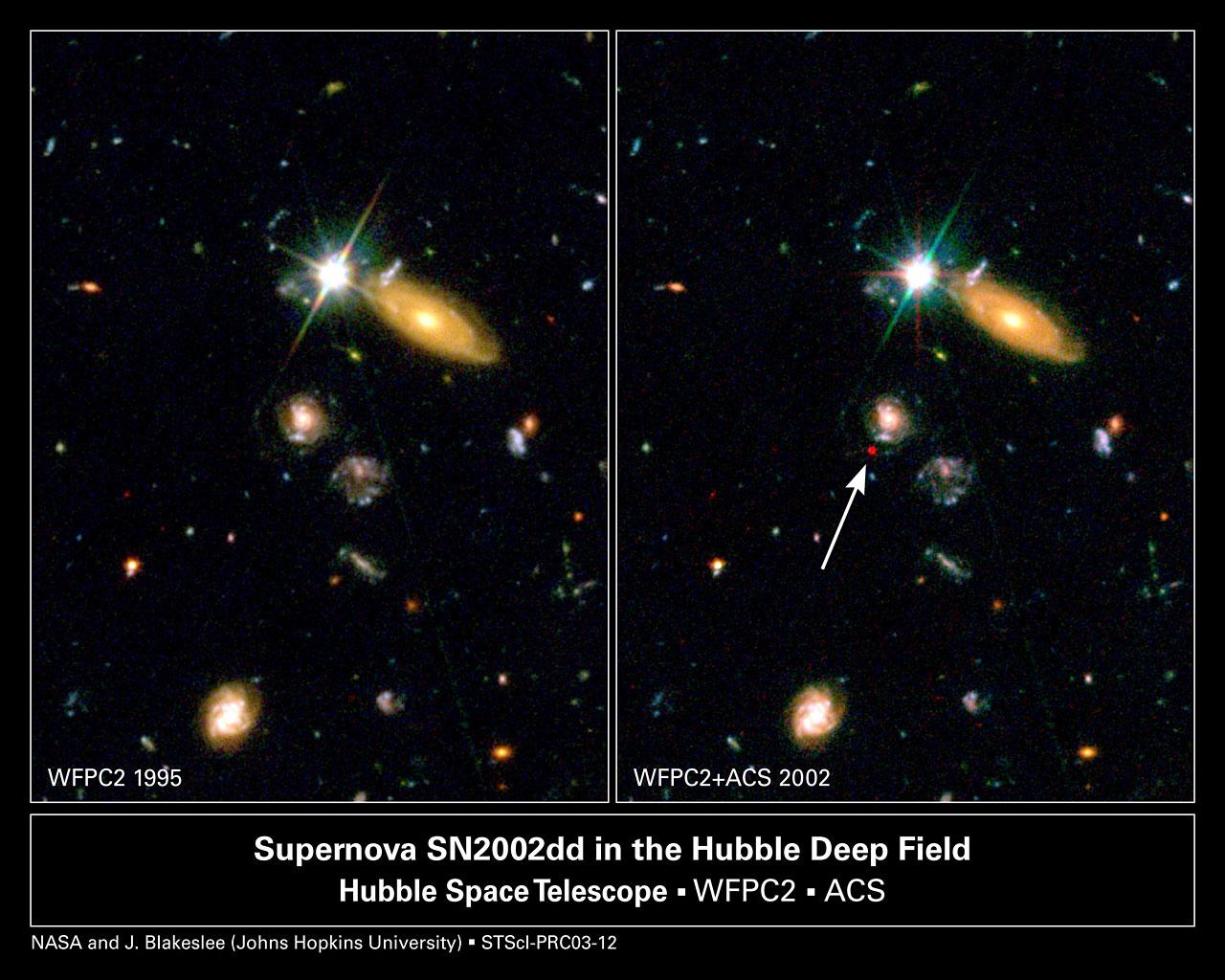 FarFlung Supernova Sheds Light on Dark Universe  ESAHubble