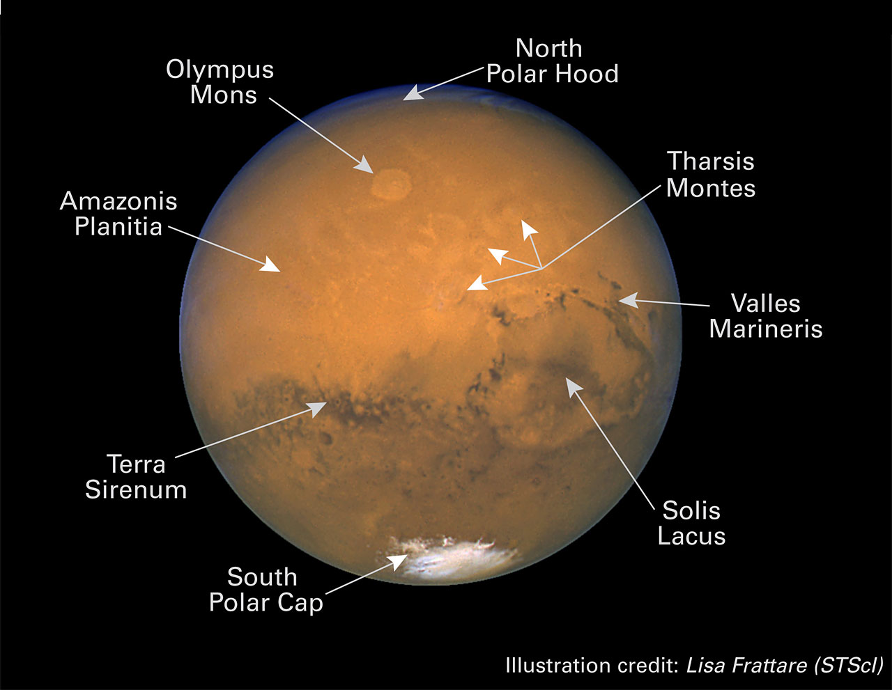 parts of a telescope diagram pioneer avh x4800bs wiring mars anotated: next view | esa/hubble