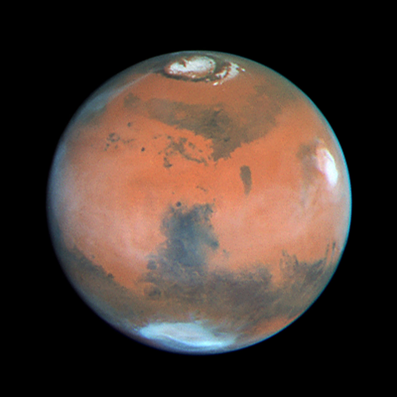 Four Views of Mars in Northern Summer  ESAHubble
