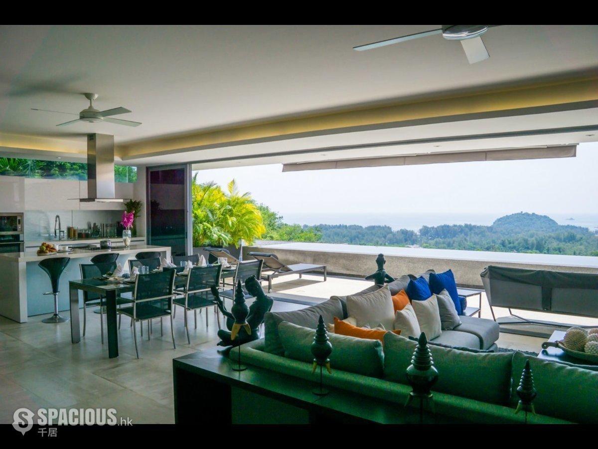 the living room with sky bar %e4%b8%80%e4%bc%91 slate tile floor thailand property market spacious