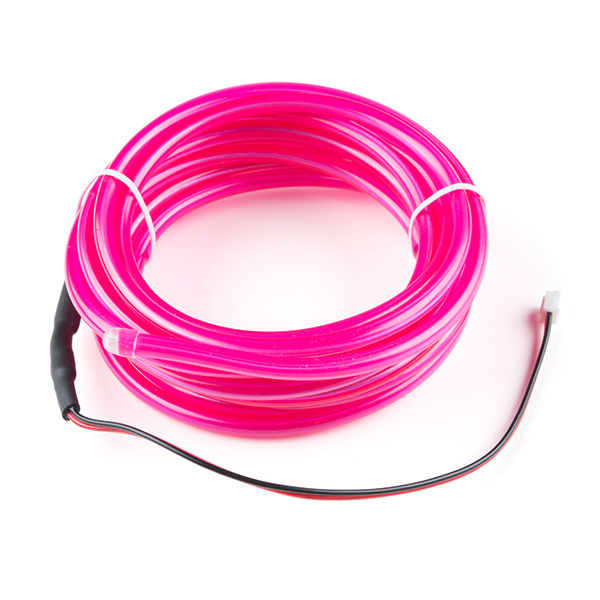 bendable el wire pink