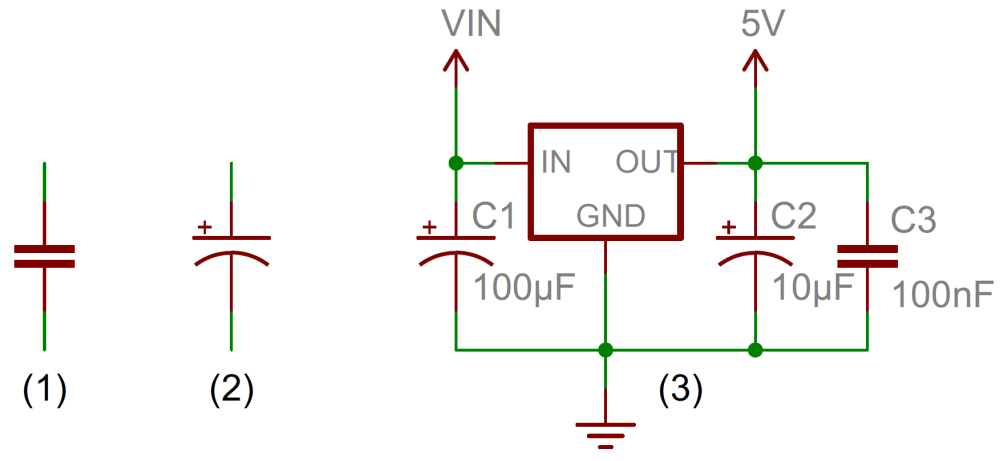 medium resolution of capacitors learn sparkfun com wiring diagram for capacitor start capacitor run motor capacitor circuit symbols