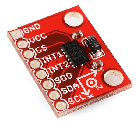 ADXL345 breakout decoupling caps