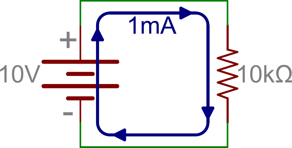 medium resolution of schematic single resistor in series with battery
