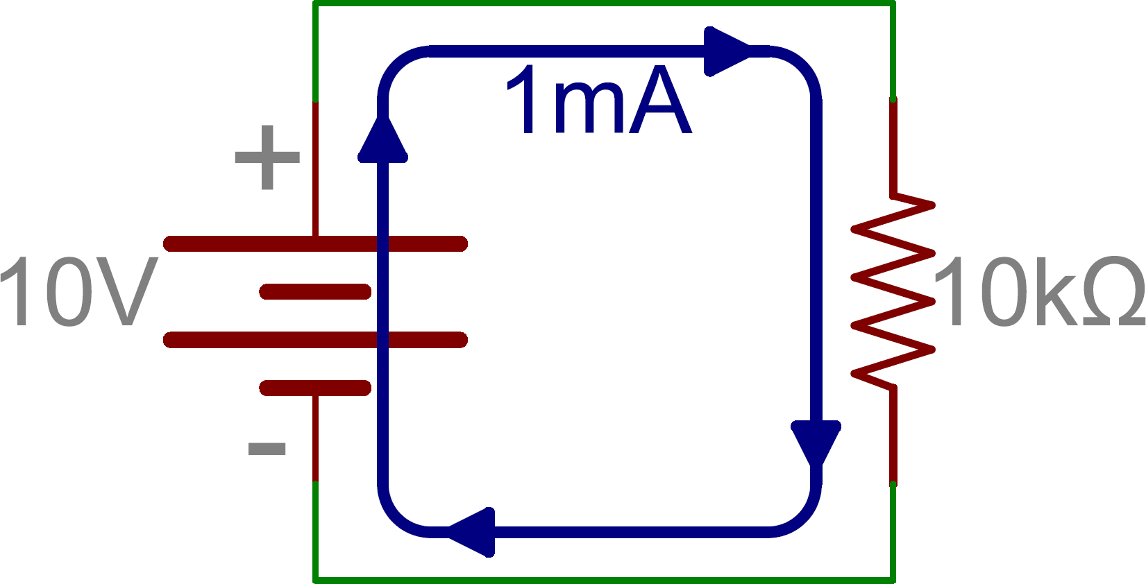 hight resolution of schematic single resistor in series with battery