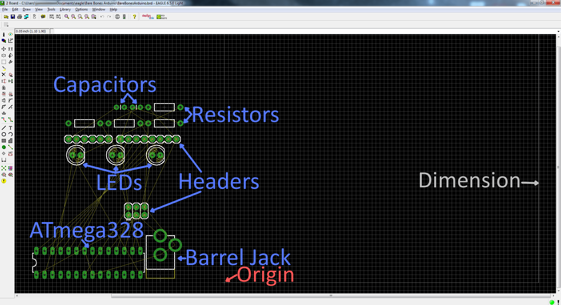 using eagle board layout