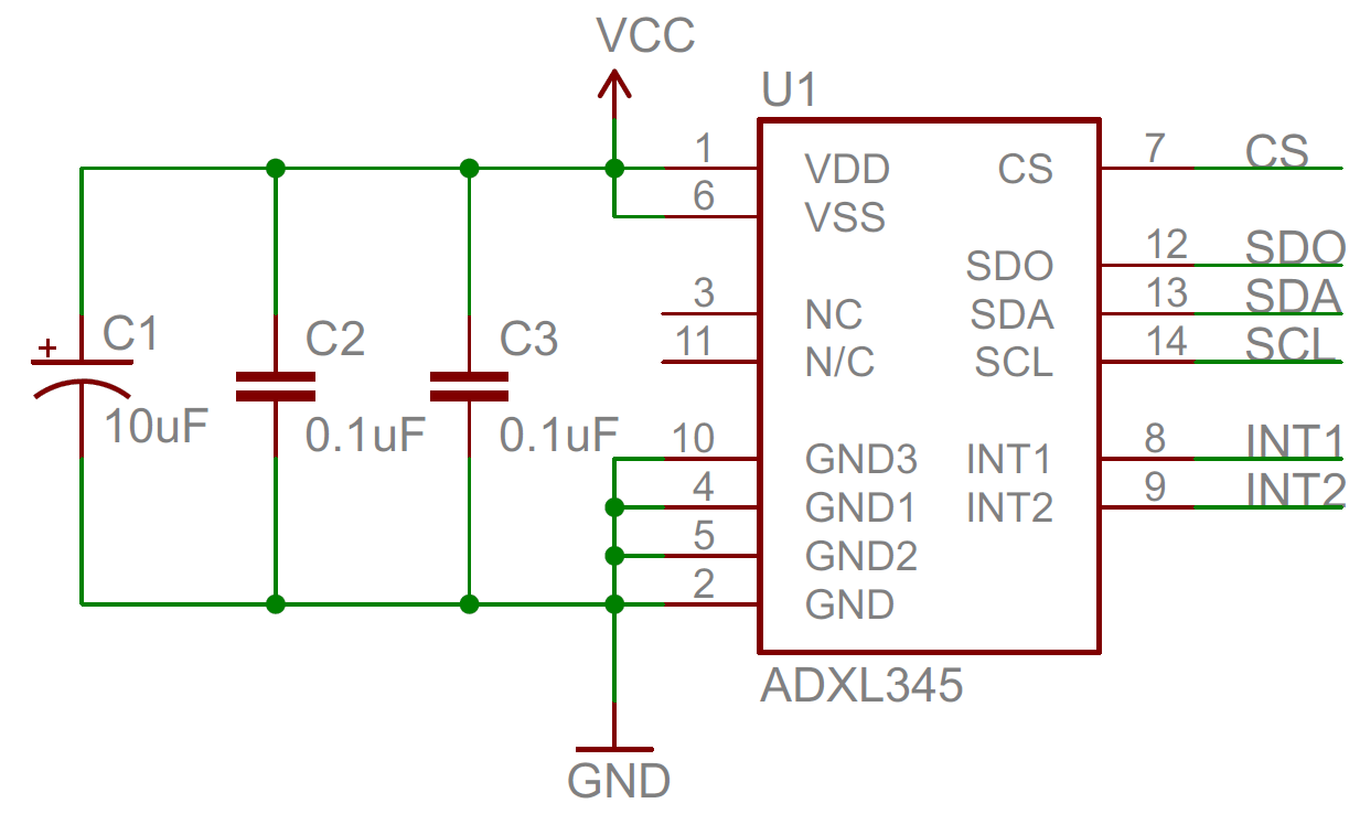 hight resolution of decoupling capacitor schematic