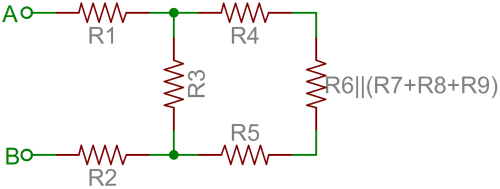 small resolution of resistor network simplified