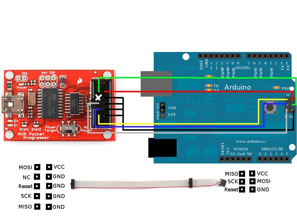 pin 7 arduino racquetball court diagram icsp  soloelectronicos