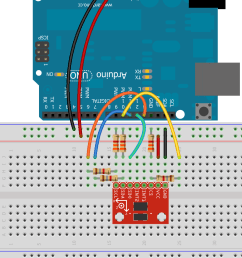 breadboard example of level shifting voltage dividers [ 930 x 1176 Pixel ]