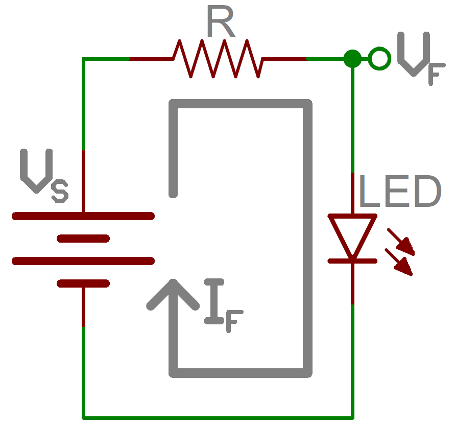 resistor circuit diagram what is a frequency resistors learn sparkfun com current limiting schematic