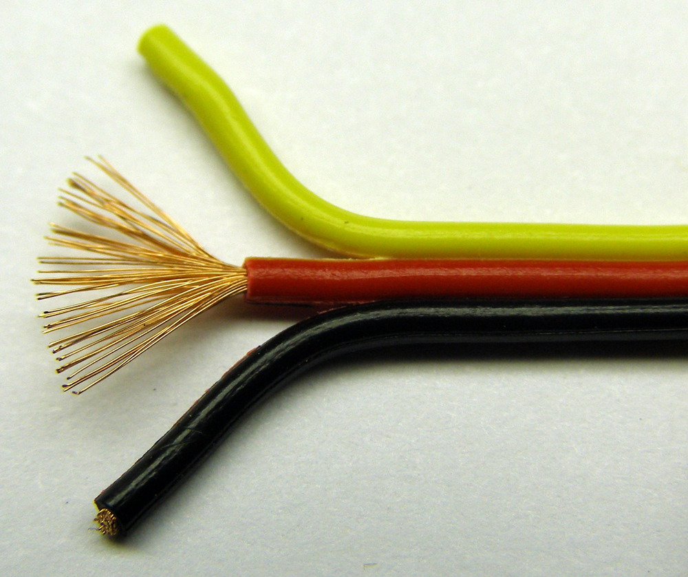 hight resolution of stripped stranded wire