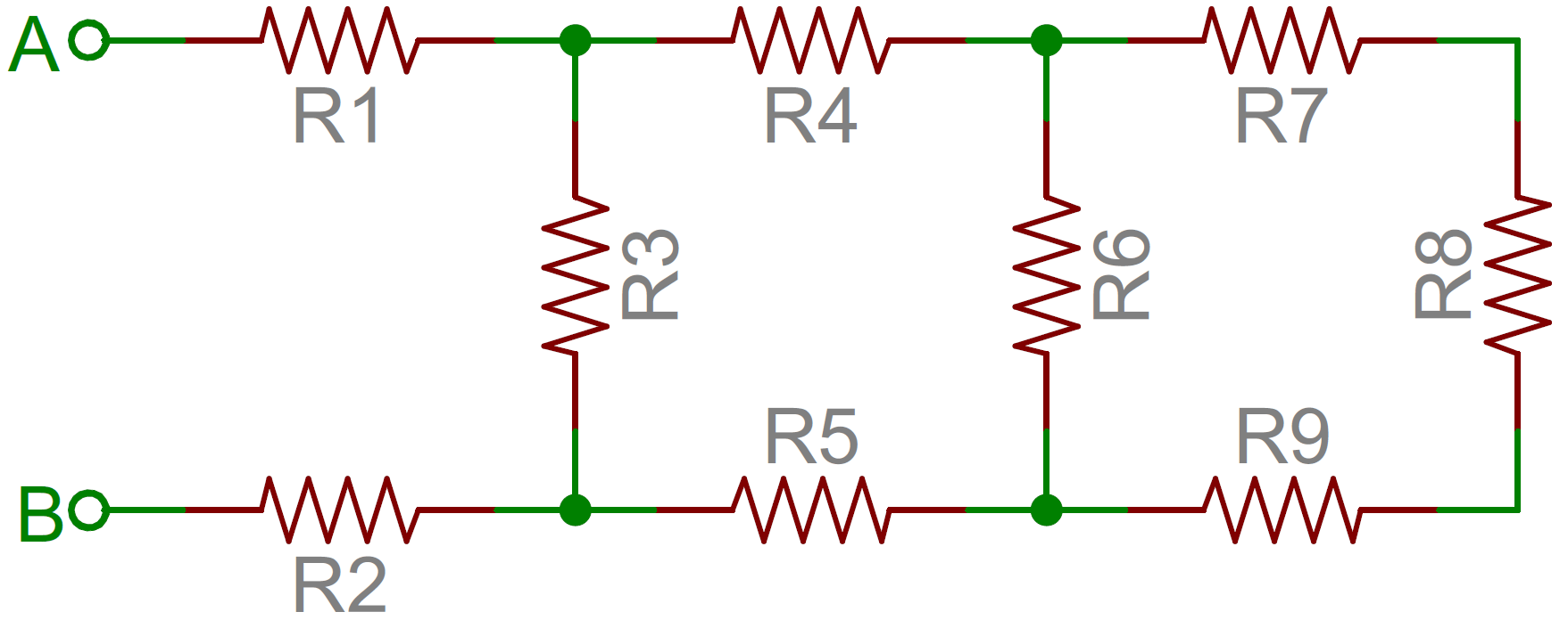 resistor circuit diagram fender stratocaster noiseless pickup wiring resistors learn sparkfun com an example of a network