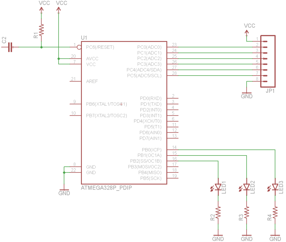 medium resolution of wiring the atmega circuit