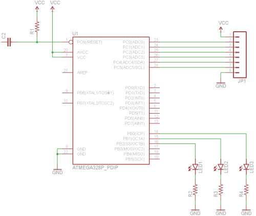 small resolution of wiring the atmega circuit