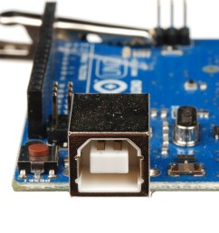 usb b connector on an arduino uno [ 1167 x 899 Pixel ]