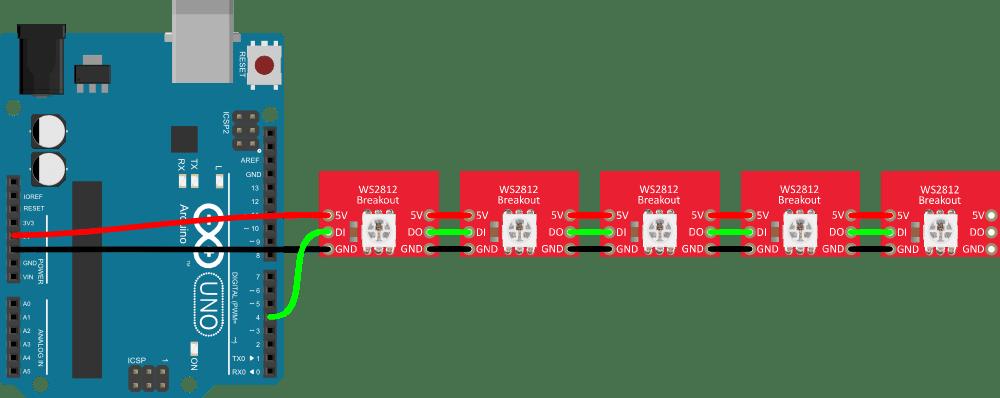 led light strip wiring diagram motor start run capacitor ws2812 breakout hookup guide - learn.sparkfun.com